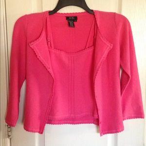 BCBG Maxazaria Cotton/Nylon Sweater Cami 2pc. -S/M